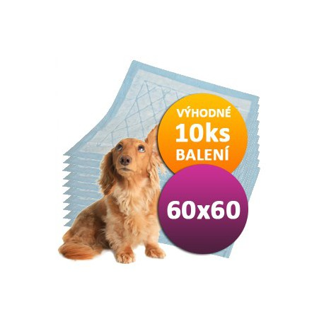 10ks Plen pro psy 60 x 60 cm DOGGIES
