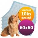 10ks Plen pro psy 60x60cm DOGGIES